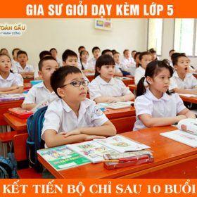 Gia sư lớp 5 tại nhà dạy kèm Toán, Tiếng Việt, Tiếng Anh
