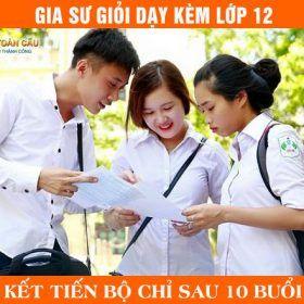 Gia sư lớp 12 giỏi dạy luyện thi Toán, Lý, Hóa, Văn, Anh