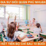 Đội ngũ gia sư giỏi quận Phú Nhuận dạy kèm tiến bộ nhanh