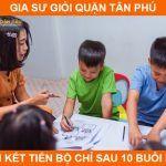 Trung tâm gia sư quận Tân Phú dạy kèm tiến bộ nhanh